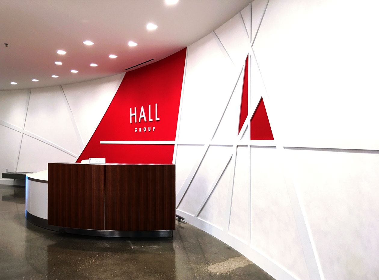 Hall Group reception area