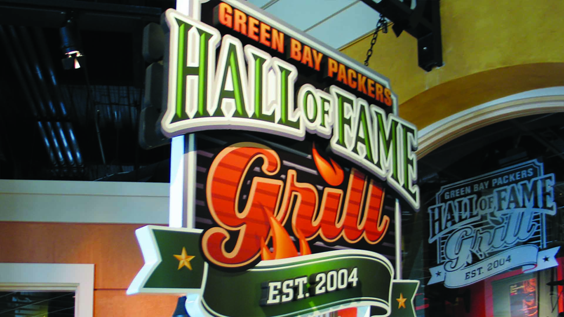 Hall of Fame Grill dimensional sign