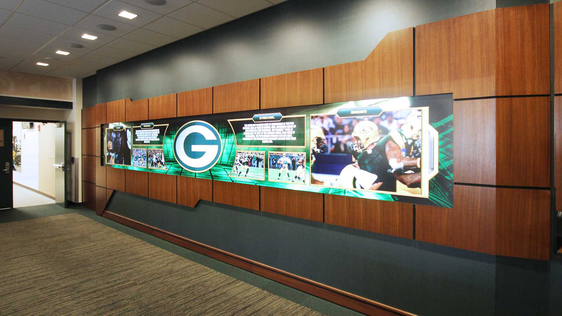 Media exhibit featuring player updates, message boards, game highlights, and player information