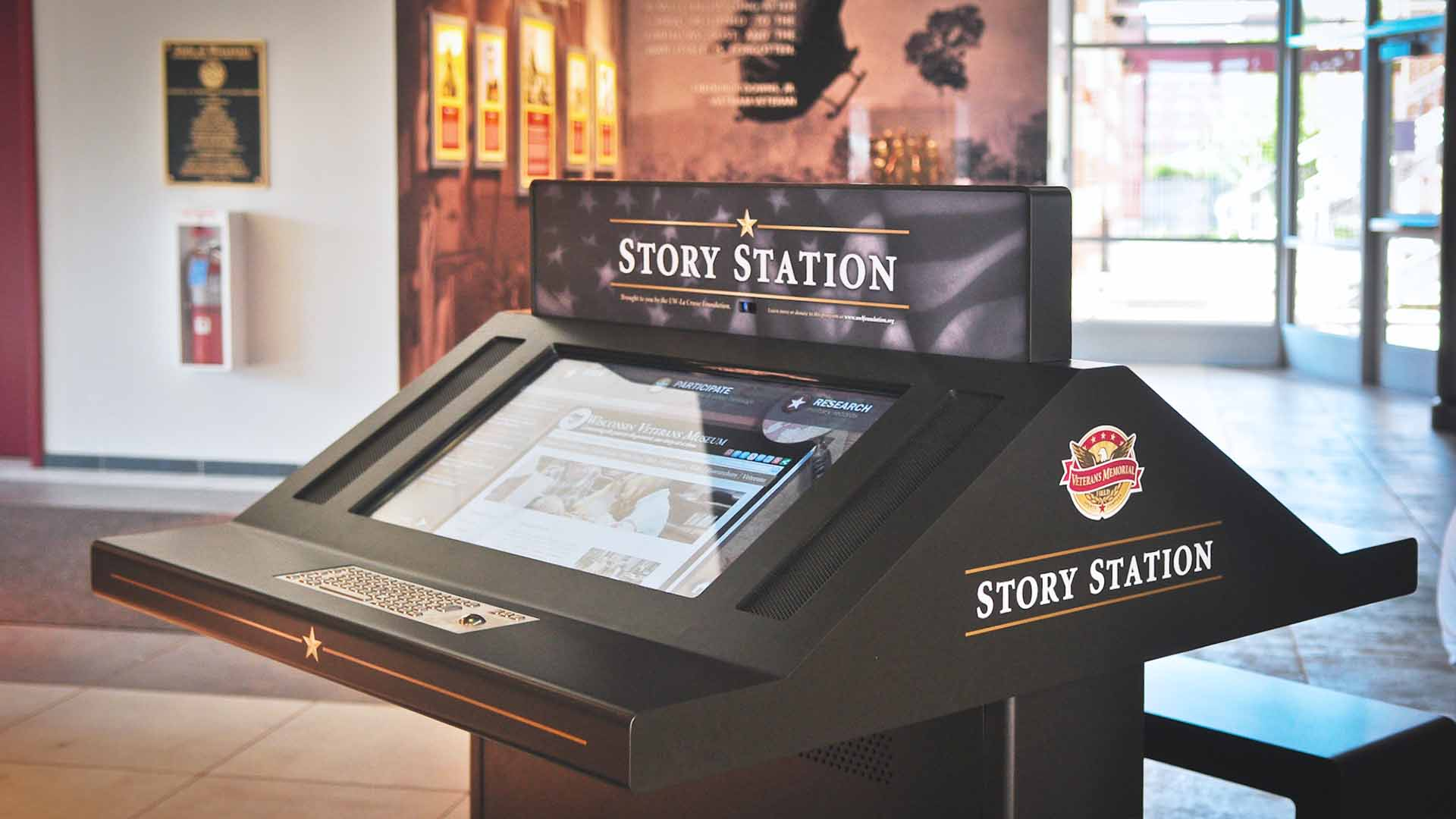 Detail view of story station