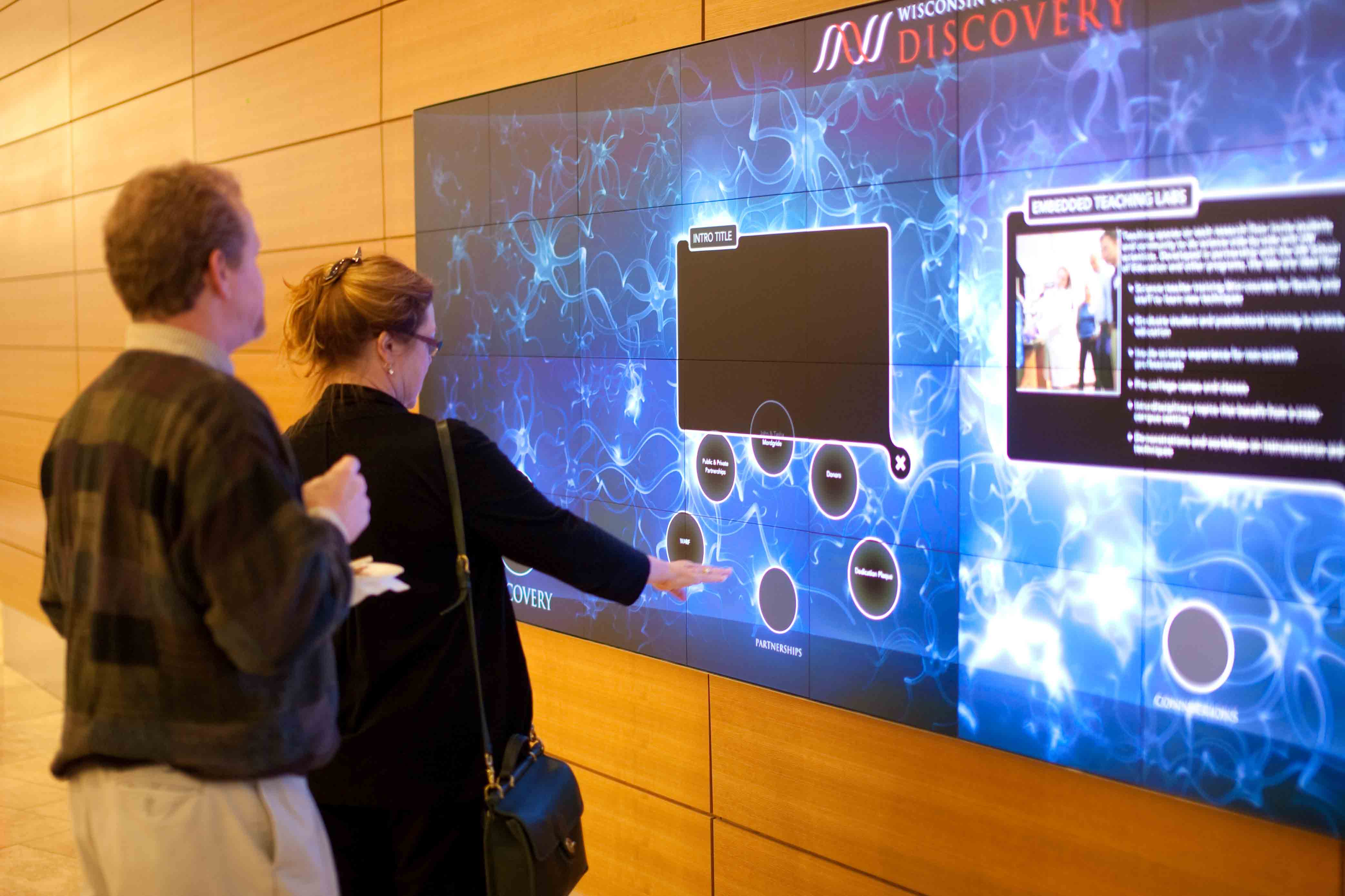 WID interactive media wall