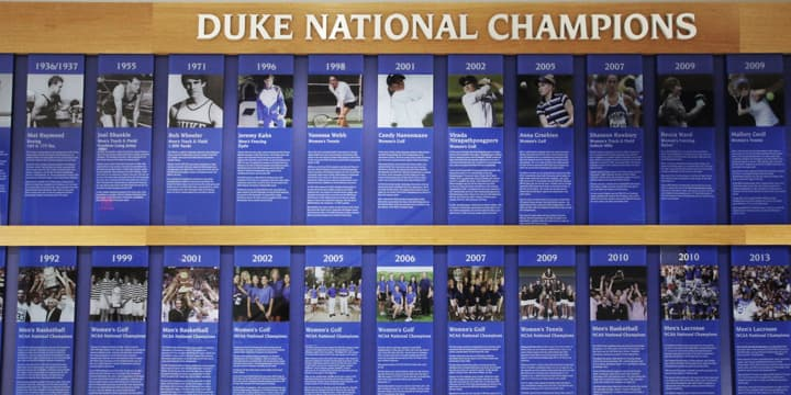 Duke National Champions exhibit