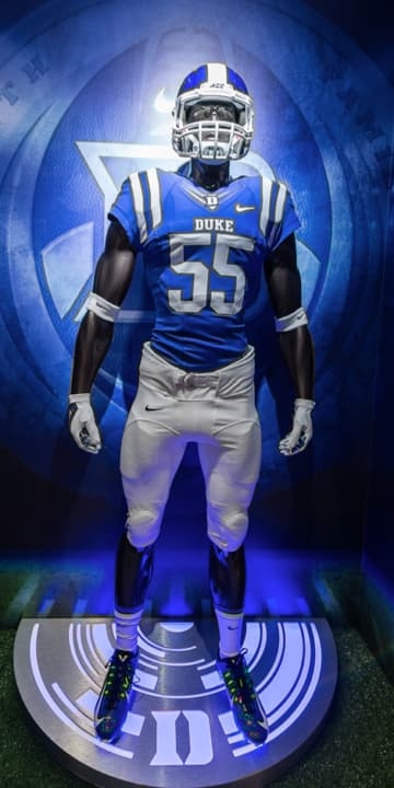 Mannequin in Duke football gear