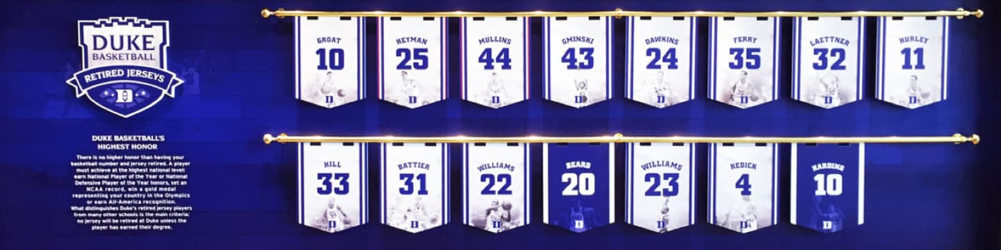 Retired basketball jerseys