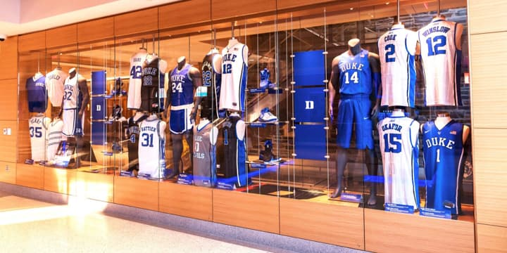 Case of basketball jerseys