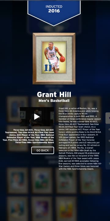 Screenshot of 2016 inductee Grant Hill