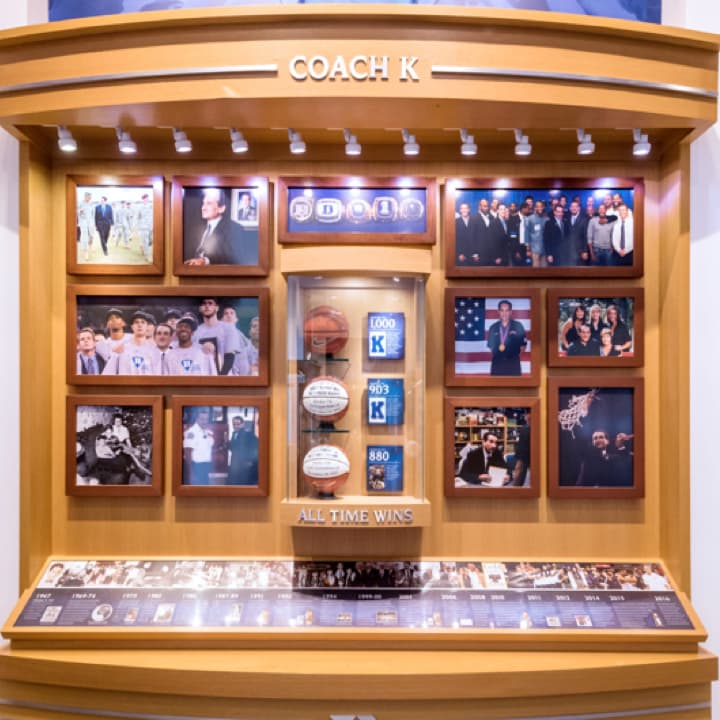 Coach K All Time Wins exhibit