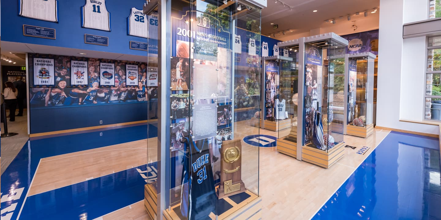 2001 Men's Basketball National Championship display case