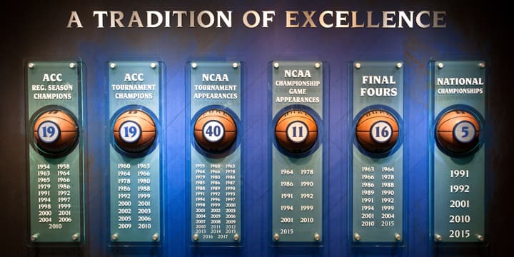 A Tradition of Excellence exhibit