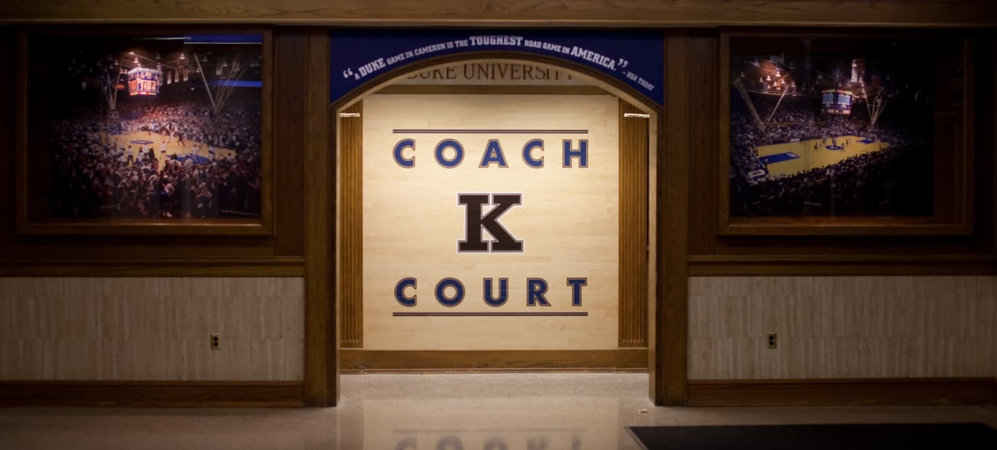Coach K Court entrance