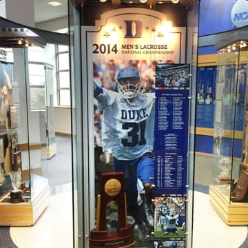 2014 Men's Lacrosse National Championship display case