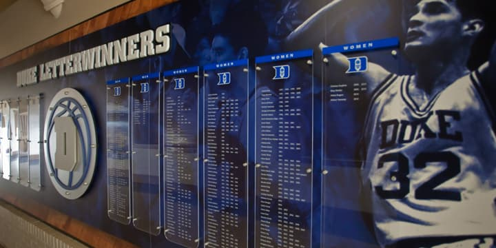 Duke Letterwinners exhibit
