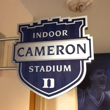 Cameron Indoor Stadium sign